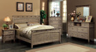 FA7351 - Loxley Weathered Oak Finish Solid Wood Adult Bed
