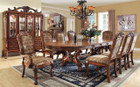 FA3557T - Medieve Antique Oak Finish 9 Piece Dining Set