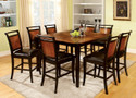 FA3034PT - Salida II Acacia & Black Finish Solid Wood/ Padded Leatherette 9 Piece Dining Set