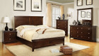 FA7113CH - Spruce Brown Cherry Finish Solid Wood Adult Bed