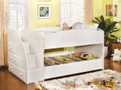 FABK921WHT - Merritt White Finish Solid Wood Twin/ Twin Bunk Bed