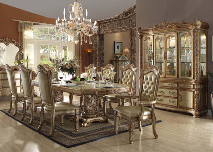 Vendome Gold 9 Piece Formal Dining Set Inland Empire