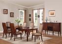 AC70620 - Shelton Walnut Finish Solid Wood 7 pc. Dining Table