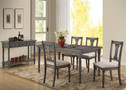 AC71435 - Wallace Weathered Blue Washed Solid Wood 5 pc. Dining Table