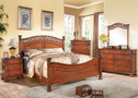 AC22770Q - Manfred Walnut Finish Solid Wood Adult Bed