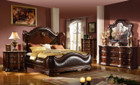 MFB3000 - Imperial Brown Solid Wood and Bonded Leather Adult Bed