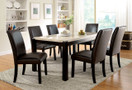 FA3823T - GLADSTONE I DARK WALNUT FINISH w GENUINE  MARBLE TABLE TOP 7 PC. DINING SET