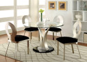 FA3727T - Valo Metal Glass Top 5 pc. Dining Table