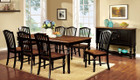 FA3431T - MAYVILLE BLACK /ANTIQUE SOLID WOOD 7 PC. DINING SET