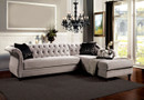 FA2261 - Rotterdam Warm Gray Premium Fabric Sectional Sofa