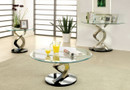 FA4729C - Nova Silver/Black 3 Pc Coffee Table Set