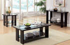 FA4559C - Luminar II Espresso 3 Pc. Coffee Table With Led Lighting