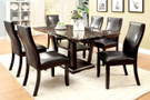 FA3933T - Clayton I Dark Cherry Solid Wood  7 pc. Dining Table