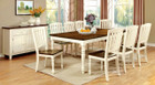 FA3216T - Harrisburg White Wash/Dark Oak Solid Wood 9 pc Dining Table