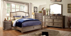 FA7612- Belgrade II Rustic Natural Tone Solid Wood Adult Bed
