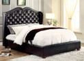 FA7016 - Monroe Solid Wood/ Bonded Leather Adult Bed