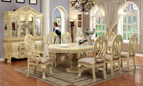 white wash dining room table. FA3186T  Wyndemere Cherry or Antique White Wash Solid Wood 9pc Dining Table