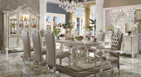Good AC61130   VERSAILLES BONE WHITE 9 PIECE DINING SET