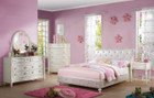 AC30340T - Dorothy Ivory/ Pearl White PU Kids Bed Set