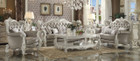 AC52125 - Versailles Vintage Gray PU Sofa and Love Seat Set