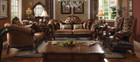 AC52095 - Dresden Golden Brown Velvet Sofa and Love Seat