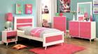 FA7850PK - Alivia Pink/White Kids Bed