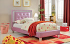 FA7217PR - Lianne Kids Bed Available in Purple and White