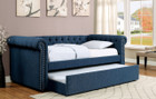 FA1027 - Leanna Day Bed w/ Trundle Available in Beige,Dark Teal,Gray and Lemon Grass