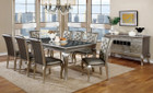 FA3219t - Amina Silver 9pc Dining Table