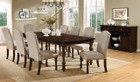 FA3133t - Hurdsfield Antique Cherry Finish 9pc Dining Table
