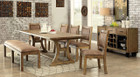 FA3829t - Gianna Rustic Pine 6pc Dining Table