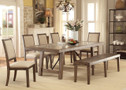 FA3562t  - Colette 6 pc. Rustic Oak Dining Set