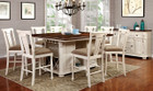 FA3199bc - Sabrina 9 pc. Counter Height Dining Set Available in Cherry White and Cherry Black
