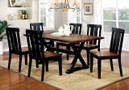 FA3668T - Alana Antique Oak & Black Finish 7 pc Dining Set