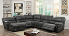 FA6131 - Estrella Gray Leatherette Sectional Comes in Gray and Brown
