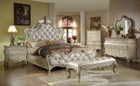 MFB8303 - Princeton Formal Antique Wash Bedroom Group With Marble Tops