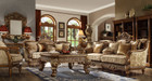 Hd610   Massima Formal Wood Trim Sofa And Love Seat
