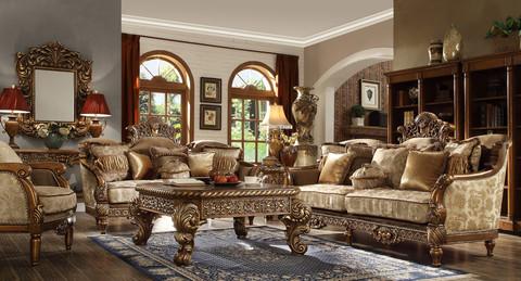 Hd610 Massima Formal Wood Trim Sofa And Love Seat