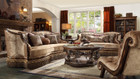 Hd1631 Donatella Formal Wood Trim Sofa And Love Seat