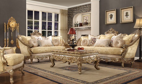 Attractive Hd2626 Anastasia Formal Wood Trim Sofa And Love Seat