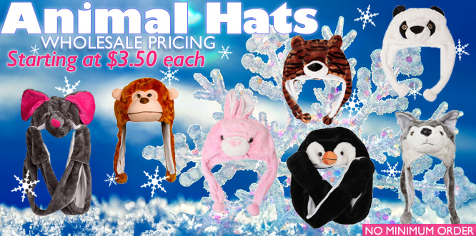 Wholesale Animal Hats Starting at $3.50 Each