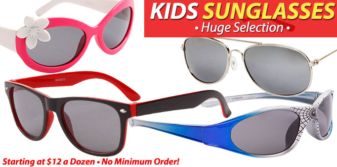 Kid's Wholesale Sunglasses