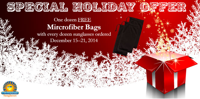 Christmas Special ~ Free Microfiber Bags!
