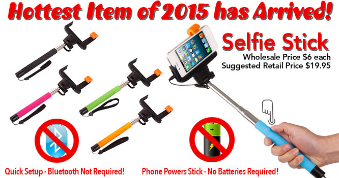 Wholesale Selfie Sticks! Hottest Item of 2015!