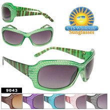 Painted Faux Rhinestone Sunglasses
