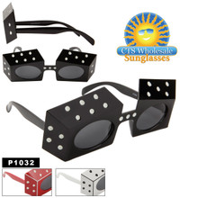 ''Party Glasses ''''Dice'''' ~ P1032 (12 pcs.) (Assorted Colors)''