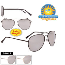 MIRRORed Aviator Sunglasses with Spring Hinge 30012