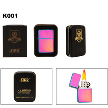 Brass Oil Lighter K001 ~ Tri-Color Finish