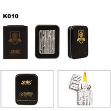Embossed Bamboo Patterned Brass Lighter & Tin K010