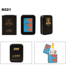 Metallic Blue w/Orange Flames Star Lighter K021